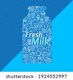 cartoon fresh milk dairy...   Shutterstock . vector #1924552997