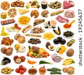 large page of food collection... | Shutterstock . vector #19245637