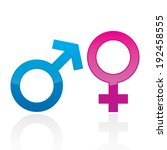male and female gender signs | Shutterstock .eps vector #192458555