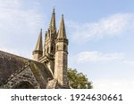 Small photo of Le Faouet, France. The Chapelle Saint Fiacre, a Catholic chapel in central Brittany (Bretagne)