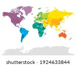 colorful political map of world.... | Shutterstock .eps vector #1924633844