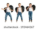 kid with black wings over white ... | Shutterstock . vector #192464267