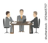 three people at meeting in...   Shutterstock .eps vector #1924645757