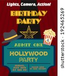 movie night. birthday party card | Shutterstock .eps vector #192465269