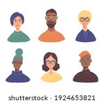 set of young people charactar...   Shutterstock .eps vector #1924653821