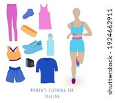 set of clothes and accessories...   Shutterstock .eps vector #1924662911