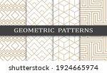 set of geometric seamless... | Shutterstock .eps vector #1924665974