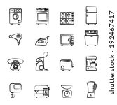 domestic appliances icons... | Shutterstock .eps vector #192467417