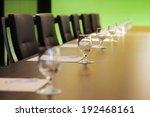 the boardroom table is set for... | Shutterstock . vector #192468161