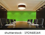 the boardroom table is set for...   Shutterstock . vector #192468164
