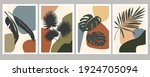 abstract art of tropical leaves ... | Shutterstock .eps vector #1924705094