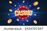 gambling casino online leisure...   Shutterstock .eps vector #1924707347