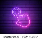 touch neon icon. elements of...