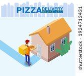 pizza delivery service...   Shutterstock .eps vector #1924713431