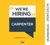 creative text design  carpenter ...   Shutterstock .eps vector #1924715174