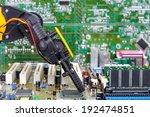 robotic arm installing a... | Shutterstock . vector #192474851