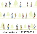 landscape with pencil drawing... | Shutterstock .eps vector #1924750391