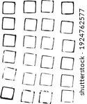 24 hand drawn grunge frames... | Shutterstock .eps vector #1924762577