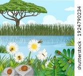 outdoor nature scene with... | Shutterstock .eps vector #1924790234