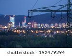 high power electricity poles in ... | Shutterstock . vector #192479294