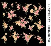 beautiful rose illustration... | Shutterstock .eps vector #1924815344