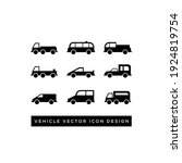 car and motorcycle type icons... | Shutterstock .eps vector #1924819754