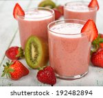 smoothies of kiwi and... | Shutterstock . vector #192482894