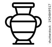 greek vase icon. outline greek...   Shutterstock .eps vector #1924849517