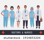 doctors and nurses on the front ... | Shutterstock .eps vector #1924853204