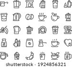 food line icon set   coffee to... | Shutterstock .eps vector #1924856321