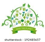ecology design over water... | Shutterstock .eps vector #192485657