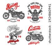 set of the racer emblems....   Shutterstock .eps vector #1924860941