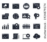 set of seo icon. search engine... | Shutterstock .eps vector #1924879274