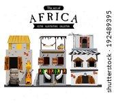 african house style   vector... | Shutterstock .eps vector #192489395