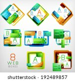 collection of vector square...