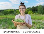 Smiling Woman Farmer With...