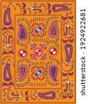 suzane   orient pattern carpet  ... | Shutterstock .eps vector #1924922681