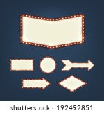 set of blank american... | Shutterstock .eps vector #192492851