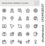 navigation  location  gps ... | Shutterstock .eps vector #1924928537