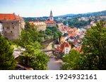 The Vltava River Runnig Through ...