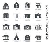 government building icons set... | Shutterstock . vector #192496271
