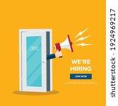 we're hiring design template...   Shutterstock .eps vector #1924969217
