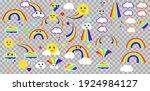 vector illustration. set of... | Shutterstock .eps vector #1924984127