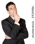 business man deep in thought... | Shutterstock . vector #1924986