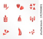 cereals and seed flat icons  ... | Shutterstock .eps vector #192500801