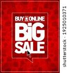 buy online big sale vector...   Shutterstock .eps vector #1925010371