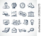 sketch infographic icons set... | Shutterstock . vector #192501275