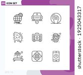 pack of 9 creative outlines of... | Shutterstock .eps vector #1925043317