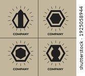 minimalist geometric black... | Shutterstock .eps vector #1925058944