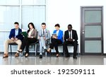business people waiting for job ... | Shutterstock . vector #192509111